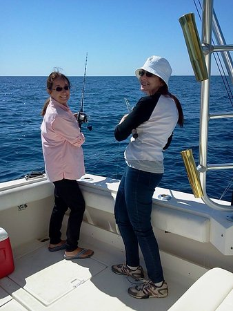 Pisces Charters: Sylvia and Barb good time fishing