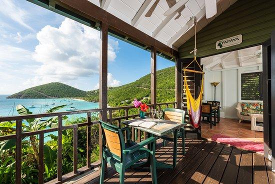 White Bay Villas & Seaside Cottages: White Bay Villas - Seaside Cottage covered veranda