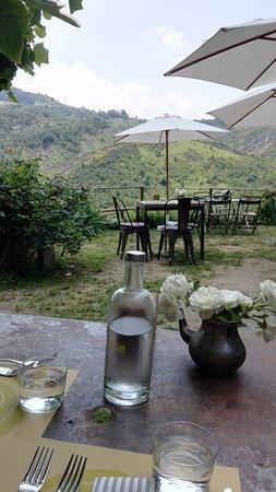 Fienile Fluo: vista dal tavolo