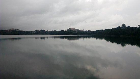 Manipal Lake: Rainy clouds