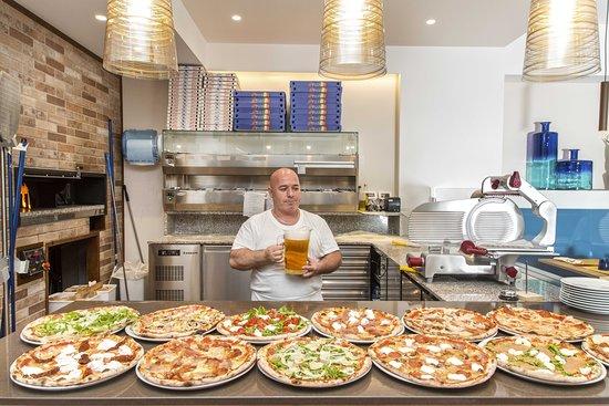 Blu Marino: Pizza e birra