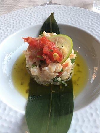 Yang Sushi & Fusion: tartare di pesce bianco