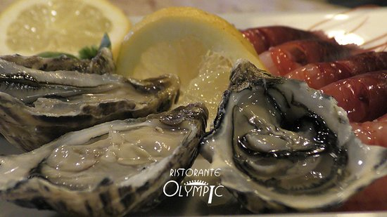 Olympic: fresh ostriche and gamberi