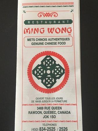 Restaurant Ming Wong: Menu