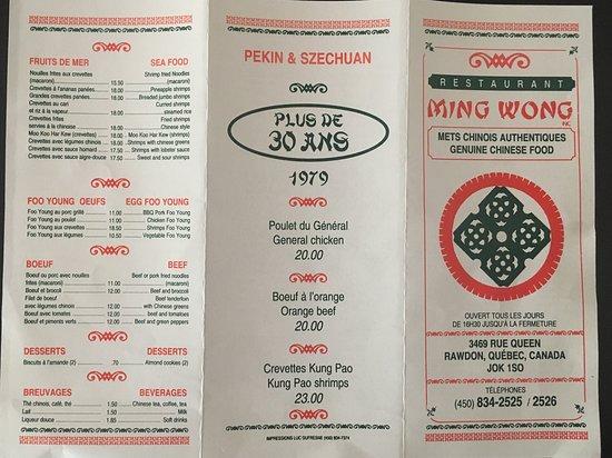 Restaurant Ming Wong: Menu / page 2