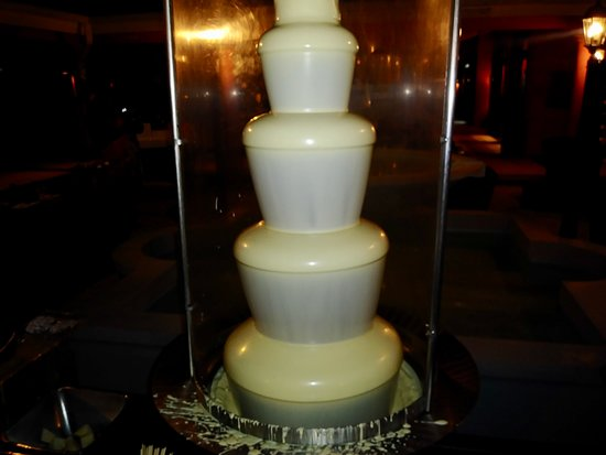 Secrets St. James Montego Bay: White  chocolate fountain in the courtyard