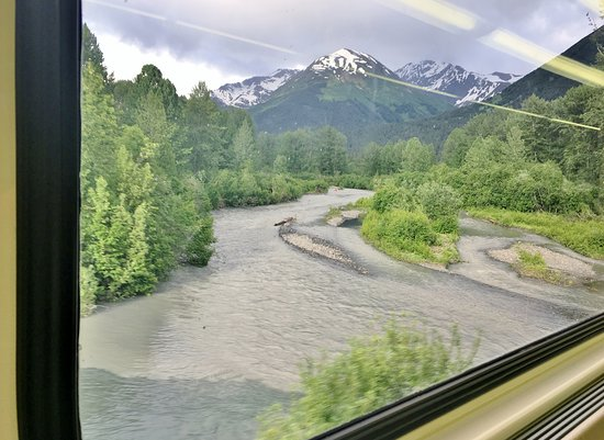 Alaska Railroad: They tell me that if you are really lucky you can see a bear in this creek.