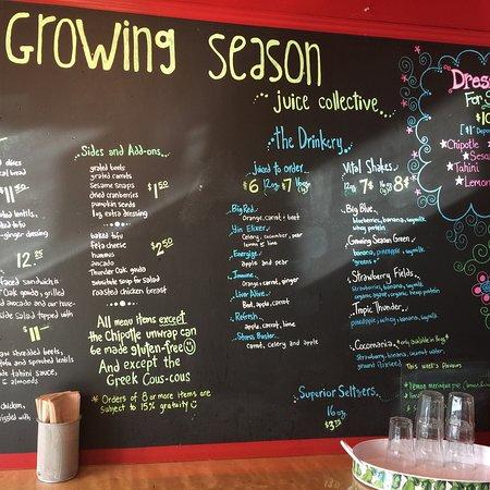 Bilde fra The Growing Season Juice Collective