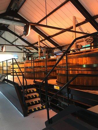 Auchentoshan Distillery: Die hölzernen Washbacks