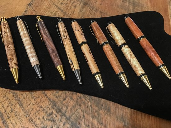 The Batesville Market: We carry lovely local artisan crafts - wooden pens by Alex Pettigrew.