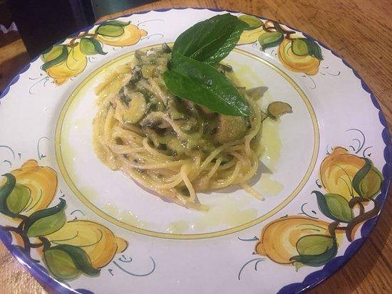 Sant'Agnello, Italien: spaghetti alla nerano