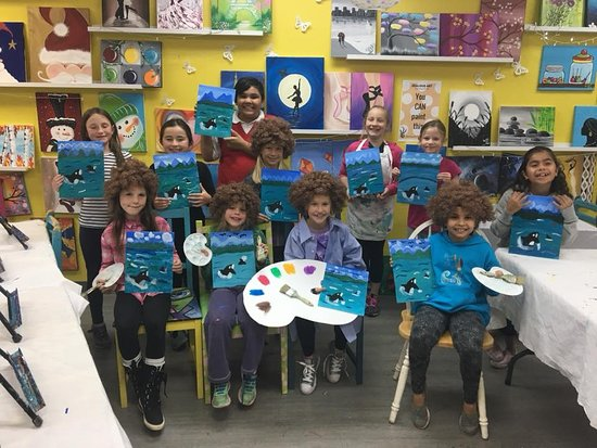 Bobross Themed Birthday Party Picture Of Zealous Art And Painting Parties Langley Tripadvisor