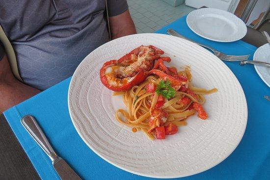 Tramonto d'Oro Restaurant: Lobster linguine