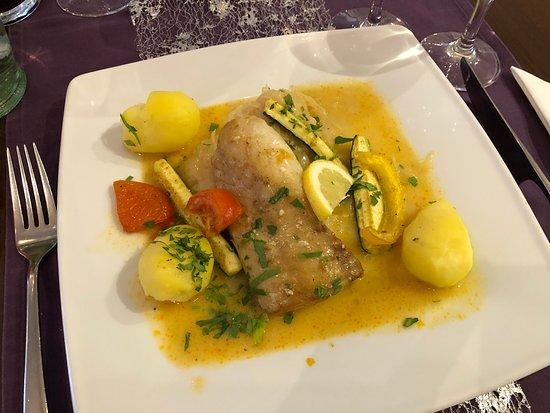 Restaurant Sterntaler: Fisch mit geschmortem Gemüse