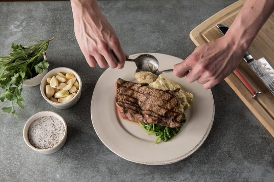The Mill in Hershey: Plating NY Strip Entree