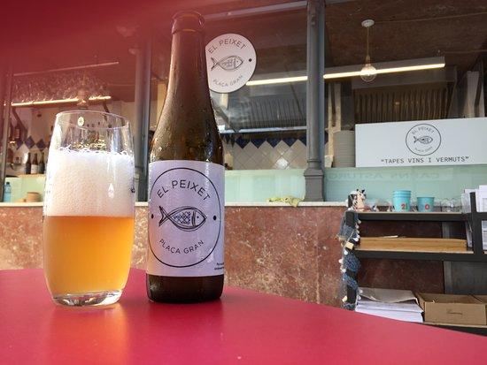 El Peixet - Plaça Gran: Nuestra cerveza de elaboración propia.