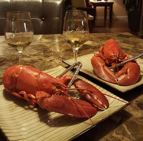Smithfield, RI: Valentine's Day Lobster paired perfectly with J. Lohr Chardonnay!