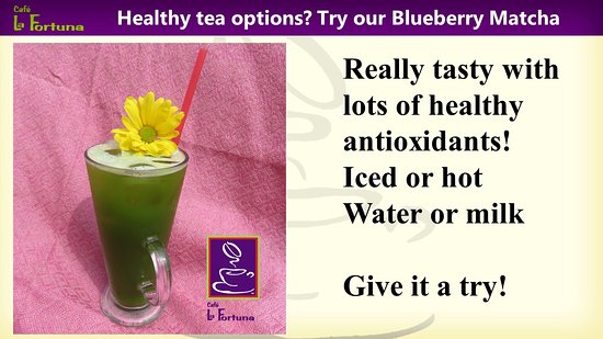 Hinsdale, IL: Besides coffee we offer Premium and blueberry matcha, a refreshing alternative.