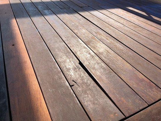 All Senses Nautica Blue Exclusive Resort & Spa: Another photo of the broken wooden balcony