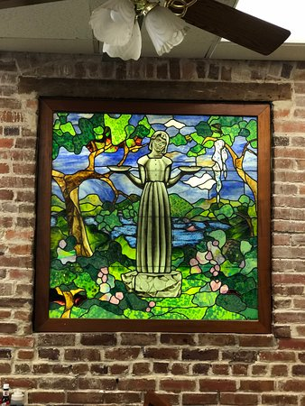 Clary's Cafe: Beautiful stained glassworks