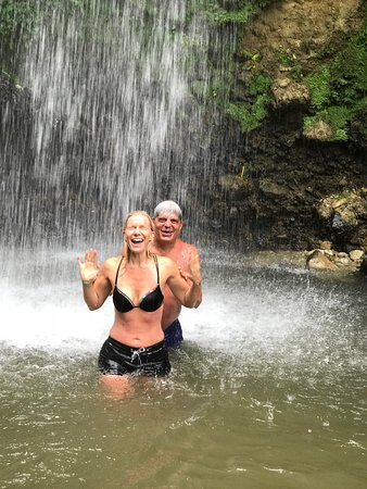 Joy's Adventure Excursion and Coastal Cruise: Freezing cold waterfall! Glad I did it!