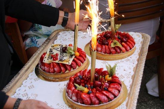 Cazaudehore: les tartes aux fruits d'anniversaire