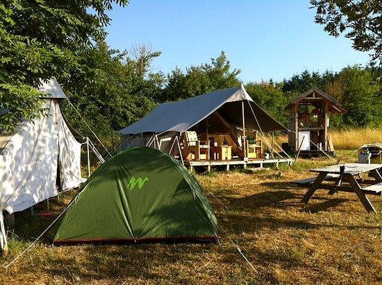 Brenazet: camping Brénazet, safaritent