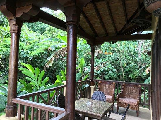 Sleeping Giant Rainforest Lodge: Outdoor Lanai
