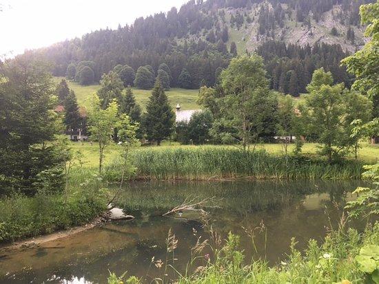 Berggasthof Rohrmoos: Teich - Gastgarten - Gasthof