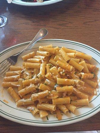 Berryville, VA: Pasta in vodka sauce with prosciutto