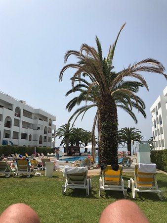 Be Smart Terrace Algarve: The pool area (excuse the knees)!