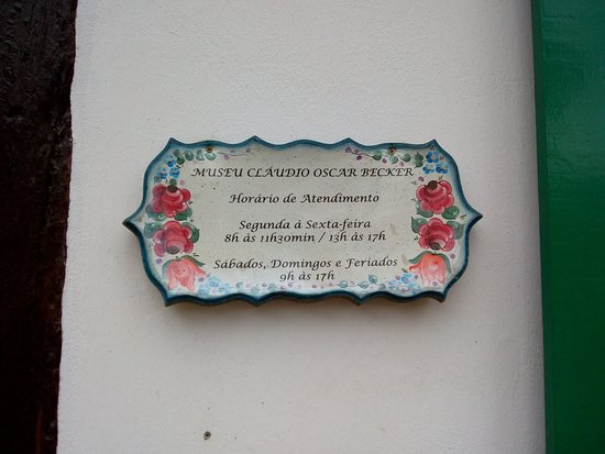 Claudio Oscar Becker Municipal Museum: Placa