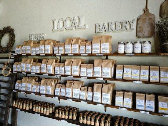 Prayer Lavender Garden: teas, coffees, scone mixes, spices, etc.