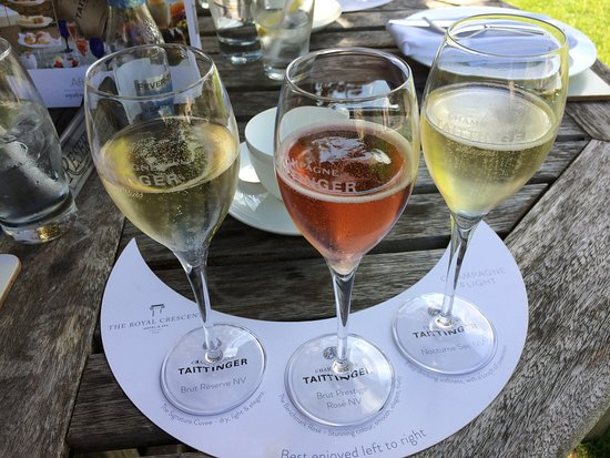 The Royal Crescent Hotel & Spa : Champagne flight