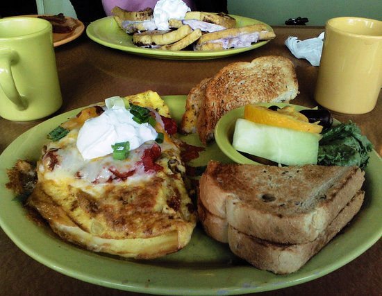 Mayfield Heights, OH: South of the Border Omelet and stuffed french toast