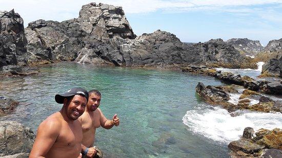 ABC Tours Aruba: Nossos guias na Natural Pool Conchi