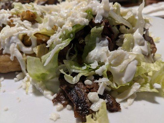 La Casa Del Patron: Patron sampler appetizer, shrimp enchiladas, and sopas plate