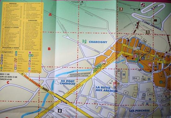Office de Tourisme de Poligny: Plan de Poligny