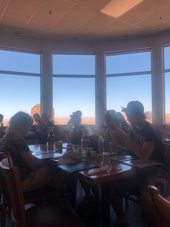 The View Restaurant: Parties of more than four are seated away from the window, but the view is still great.