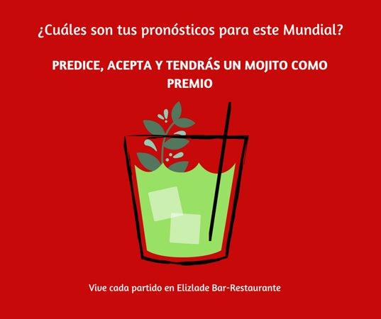 Elizalde Bar-Restaurante: Promociones, solo si vienes a ver un partido en nuestro restaurante
