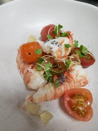 Tides Waterfront Dining: Moreton Bay Bugs, tomato, basil