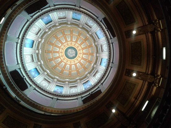 Michigan State Capitol: Inside on the dome