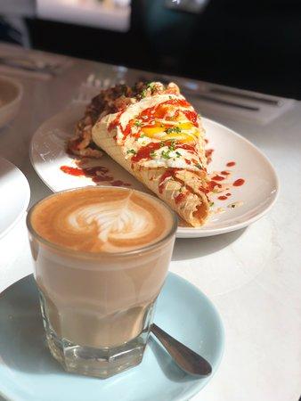 Dotty's Pastries & Coffee: Popcorn Chicken Wafer