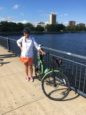 Tour de Boston Bike Tour (Great for families): Our guide was happy to take photos of the riders. Good ones, too!