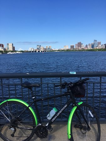 Tour de Boston Bike Tour (Great for families): Notice how great the bikes are? Also, water was provided.