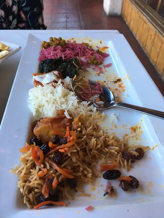 Khyber Pass Restaurant: The vegetarian platter