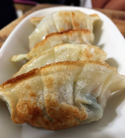 Samsoonie Noodle & Rice: Pan fried dumplings
