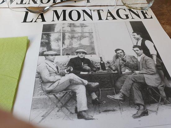 La Montagne : image sympa de feuille de table