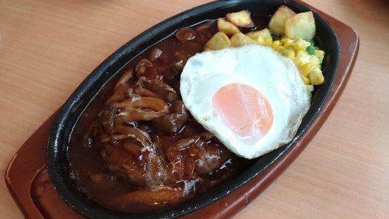 Saizeriya Hamamatsu Mall-Gai: Hamburg Steak with demi glace sauce