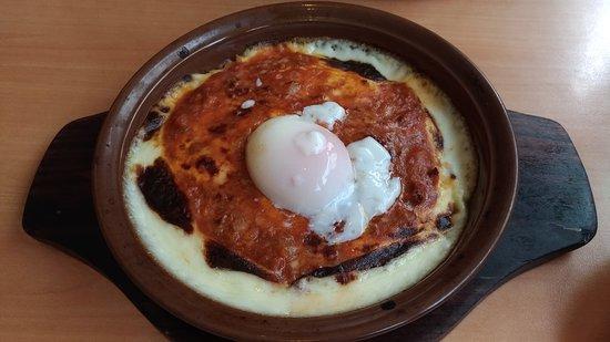 Saizeriya Hamamatsu Mall-Gai: Doria with soft boiled egg